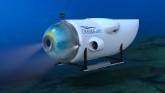 Le sous-marin qui servira à explorer les alentours de l'épave. Photo La Presse canadienne