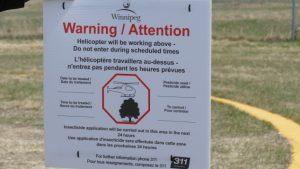 إعلان عن موعد رشّ مبيدات الحشرات في مدينة وينيبيغ/ Radio-Canada/Jeff Stapleton