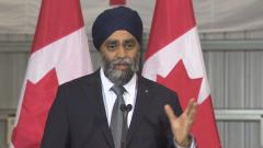 وزير الدفاع الكنديّ هارجيت سجّان/ Radio-Canada