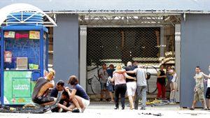 منطقة لاس رامبلاس في برشلونة التي استهدفها الهجوم الارهابي/EPA/David Armengou