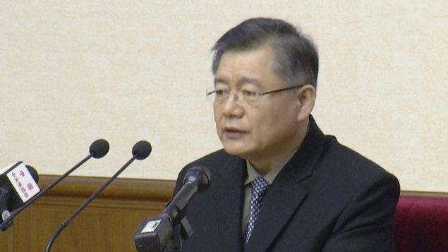 القسّ الكندي هيون سو ليم في بيونغ يانغ/ Associated Press