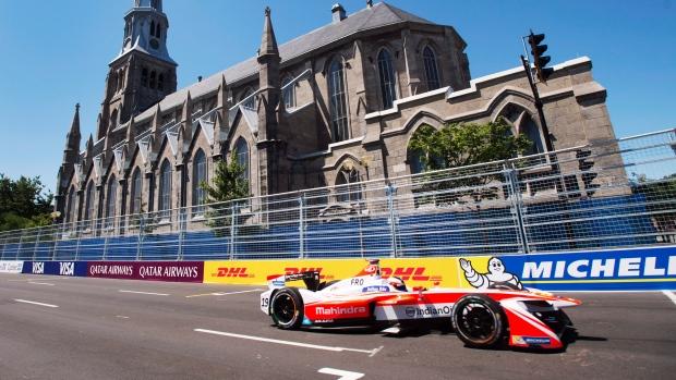 سباق السيّارات الكهربائيّة فورمولا إي في مونتريال/Ryan Remiorz/CP