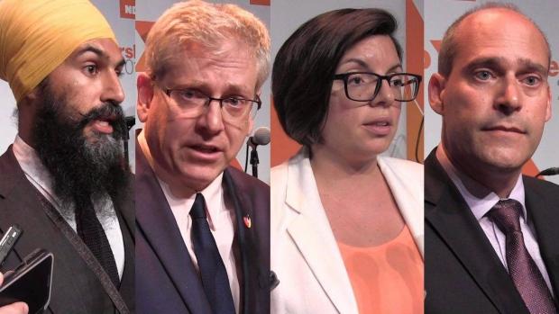 المرشّحون الأربعة لزعامة الحزب الديمقراطي الجديد/Canadian Press