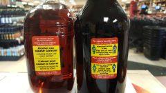 تحذير من مخاطر استهلاك الكحول على الزجاجات/Gouvernement du Yukon