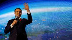 الرئيس الفرنسي ايمانويل ماكرون في قمّة الكوكب الواحد للمناخ/Philippe Wojazer/Reuters