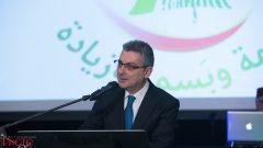السفير فادي زيادة خلال حفل التكريم/القنصلية اللبنانية