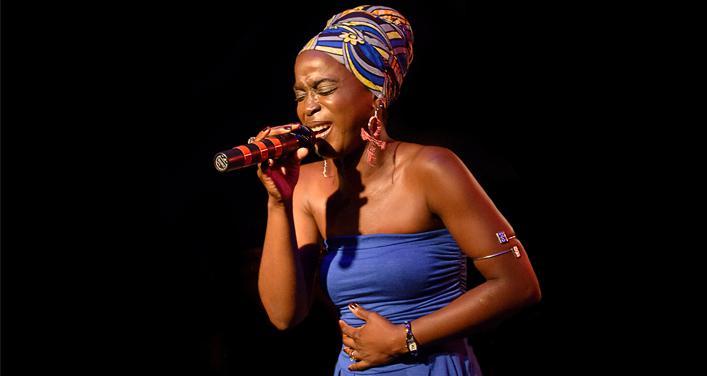 النجمة السمراء كارين أو ميكرو حقوق الصورة: مؤسسة ليالي افريقيا