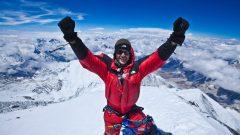 ايليّا صيقلي فوق قمّة افريست على ارتفاع 8848 مترا عام 2013/Michael Horst