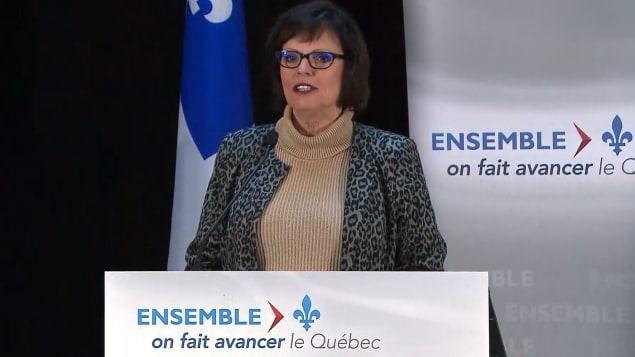 الوزير المساعدة لشؤون الصحّة في كيبيك لوسي شارلوبوا/Radio-Canada
