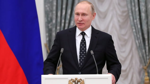 الرئيس الروسي فلاديمير بوتين//Mikhail Klimentyev/AP