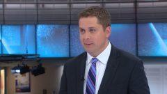 زعيم حزب المحافظين أندرو شير في قناة RDI الاخبارية في هيئة الإذاعة الكندية/RDI