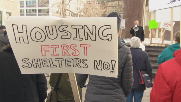 مظاهرة في أوتاوا ضد ظاهرة التشرد/راديو كندا