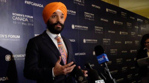 وزير العلوم والتنمية الاقتصاديّة الكندي نافديب باينز/Patrick Morell/CBC/هيئة الاذاعة الكنديّة