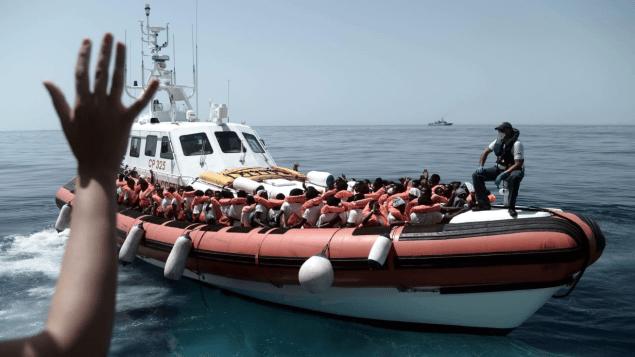 الظروف المناخية في منطقة المتوسط قد لا تكون مؤاتية للقارب الذي ينقل المهاجرين/sos Méditerranée