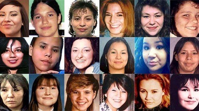 مجموعة من نساء السكّان الأصليّين اللواتي تعرّضن للقتل والخطف/CBC/Radio-Canada