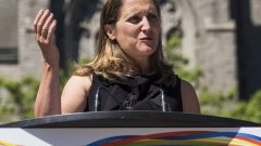 وزيرة الخارجيّة الكنديّة كريستيا فريلاند /Jimmy Jeong/CP
