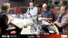 أسرة القسم العربي في بث مباشر عبر الفيسبوك