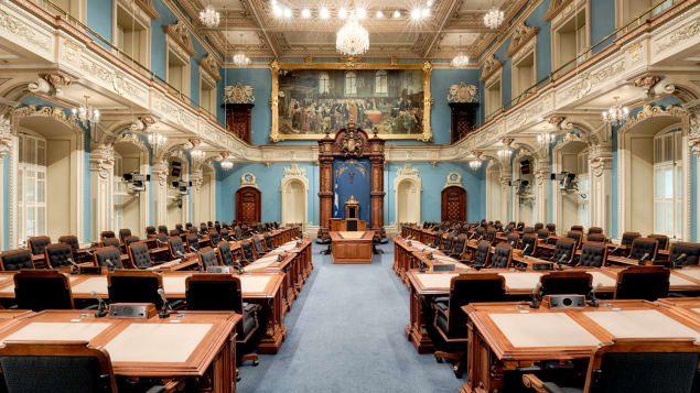 الصالون الأزرق الذي سيستقبل النواب الجدد والمنتخبين من القدامي أول شهر أكتوبر تشرين الأول المقبل/راديو كندا