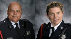 الشرطيان سارا يبرنز و روب كوستلو اللذان سقطا في حادثة إطلاق النار في فردريكتون – Radio Canada
