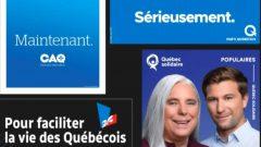 كلمات تختصر الشعارات الانتخابيّة للأحزاب الكيبيكيّة/Radio-Canada