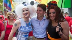 رئيس الوزراء الكندي جوستان ترودو في الاستعراض السنوي الأربعين لمثليي الجنس في مدينة فانكوفر الاحد 5 أغسطس 2018/ Radio Canada
