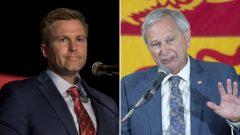 زعيم حزب المحافظين المحلّي بلاين هيغز وزعيم الحزب الليبرالي المحلّي برايان غالانت مدعوّان لتشكيل حكومة ائتلافيّة في مقاطعة نيوبرنزويك/PC