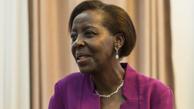 لويز ميشيكاوابو وزيرة خارجيّة رواندا تحظى بتأييد واسع للفوز بمنصب الأمينة العامّة لمنظّمة الدول الفرنكوفونيّة/AFP/Getty Images/JACQUES NKINZINGABO
