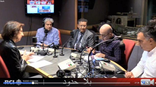 أسرة القسم العربي وضيف البرنامج الأستاذ ابراهيم بن يوسف في 26-10-2028/راديو كندا الدولي