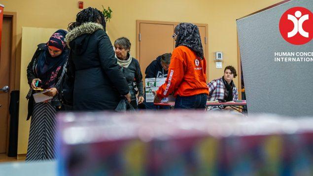 المركز الاسلامي في اوتاوي شارك في حملة لجمع التبرعات لمنكوبي الاعصار بدعم من مؤسّسة هيومن كونسورن انترناشونال/HCI