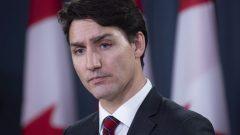 رئيس الحكومة الكنديّة جوستان ترودو في مؤتمره الصحفي لنهاية السنة في 19-12-2018/Adrian Wyld/PC