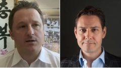 الكنديّان مايكل كوفريغ (إلى اليمين) ومايكل سبيفور معتقلان لدى السلطات الصينيّة/AP/International Crisis Group/CP