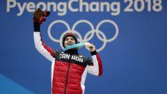 مايكل كينغسربيري في الألعالب الأولمبية الشتوية في بيونغ شانغ في كوريا الجنوبية في فبراير شباط الماضي - Getty Images / Sean M. Haffey