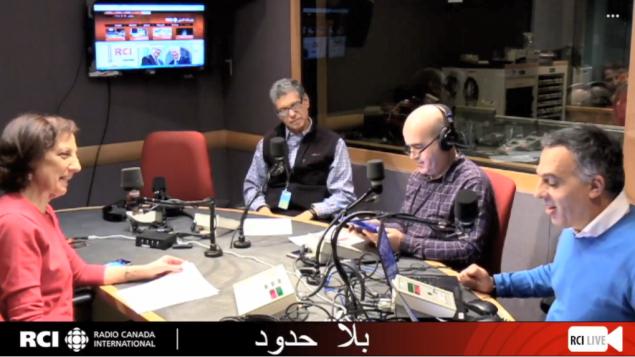 أسرة القسم العربي في برنامج بلا حود وضيف البرنامج المهندس الأستاذ ايهاب لطيّف/RCI