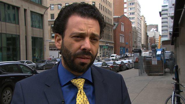 """هارون بوعزّي، العضو المؤسس في """"جمعية المسلمين والعرب من أجل العلمنة في كيبيك"""" / Radio-Canada"""