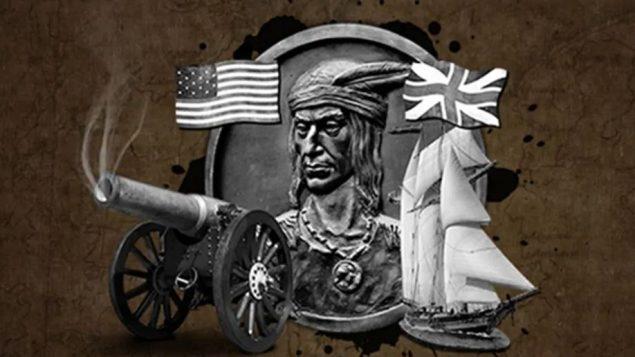 لوحة تمثل حرب 1812 التي دارت بين كندا والولايات المتحدة الأمريكية