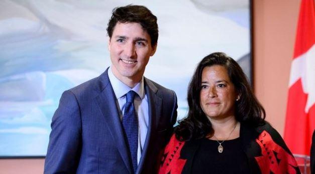 جودي ويلسون-رايبولد، وزيرة العدل السابقة ورئيس الحكومة الكندية جوستان ترودو - أرشيف - Sean Kilpatrick / The Canadian Press
