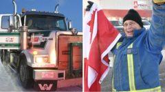 قافلة الشاحنات انطلقت من مدينة ريد دير في ألبرتا متّجهة نحو العاصمة الكنديّة اوتاوا في 14-02-2019/Terry Reith/CBC/ هيئة الاذاعة الكنديّة