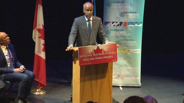 أحمد حسين، وزير الهجرة الكندي الأمس في كالغاري - Radio-Canada / Fuat SEKER
