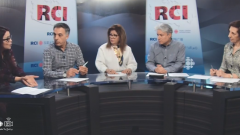 أسرة القسم العربي وضيفة البرنامج الكنديّة الجزائريّة أمال بوعزّة/RCI