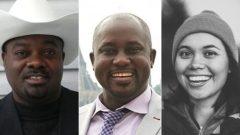 من اليسار: دريك لوجي من كالغاري، بيوس اندزامي ودانيال مور من وينيبيغ، من بين الضحايا الكنديّين في حادثة تحطّم طائرة اثيوبيّة/Facebook/Carlton University handout/Facebook)