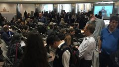 المئات شاركوا في معرض الوظائف للمصابين بالتوحّد في مدينة ريتشموند في بريتيش كولومبيا في 08-04-2019/Taylor Simmons/CBC/هيئة الاذاعة الكنديّة