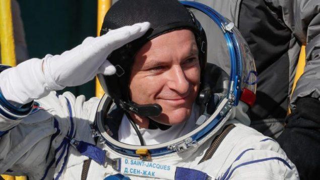 رائد الفضاء الكندي دافيد سان جاك في 04-12-2019/Reuters/POOL New