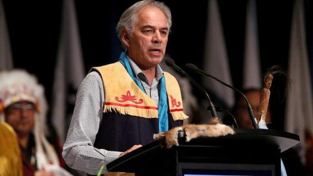 رئيس جمعية الأمم الأوائل في كيبيك ولابرادور ، جيسلان بيكار - The Canadian Press / Trevor Hagan