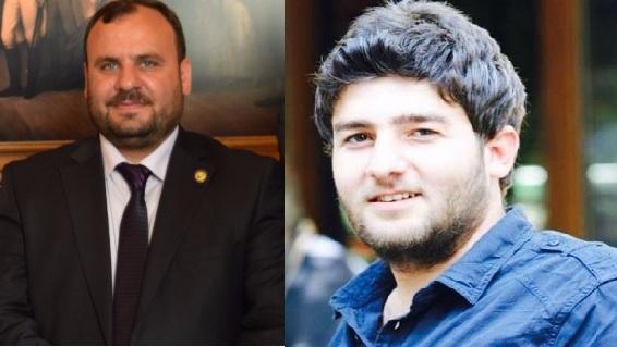 مجد خلف (إلى اليمين)، مسؤول التقارير والمنح و منير مصطفى، نائب مدير الخوذ البيضاء - Twitter