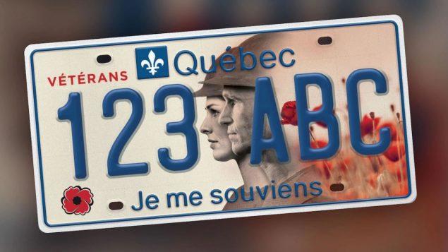 لوحة تسجيل السيّارة في كيبيك لتكريم قدامى المحاربين / Radio-Canada