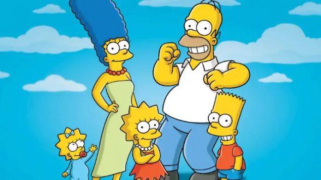 عائلة سيمبسون وظهرت في الوسط الطفلة ليزا سيمبسون/Fox/AP