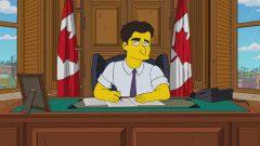 رئيس الحكومة جوستان ترودو كما سيظهر في المسلسل التلفزيوني عائلة سيمبسون/La Presse canadienne / City TV