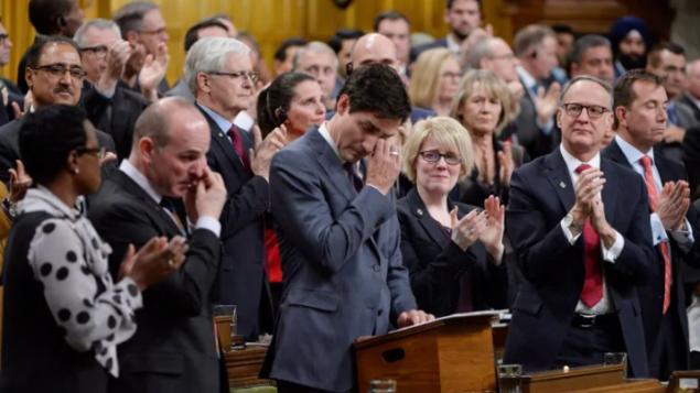 قدّم رئيس الحكومة الكندية، جوستان ترودو، اعتذارا رسميا للمثليين باسم كندا يوم 28 نوفمبر تشرين الثاني 2017- Adrian Wyld/La Presse canadienne