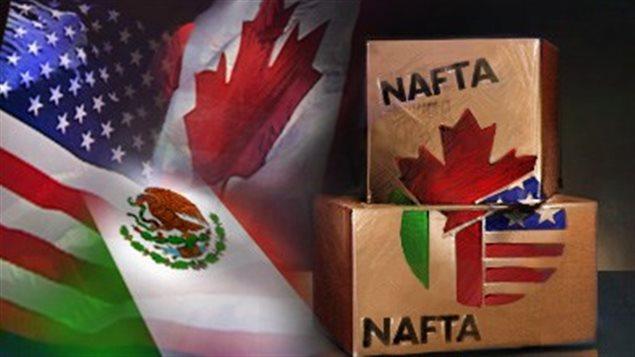 اتّفاق التبادل الحرّ لدول أميركا الشماليّة يضمّ كلاّ من كندا والولايات المتّحدة والمكسيك/CBC
