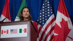 وزيرة الخارجيّة الكنديّة كريستيا فريلاند/AFP/Getty Images/ANDREW CABALLERO-REYNOLDS